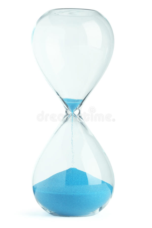 Hourglass azul foto de stock royalty free