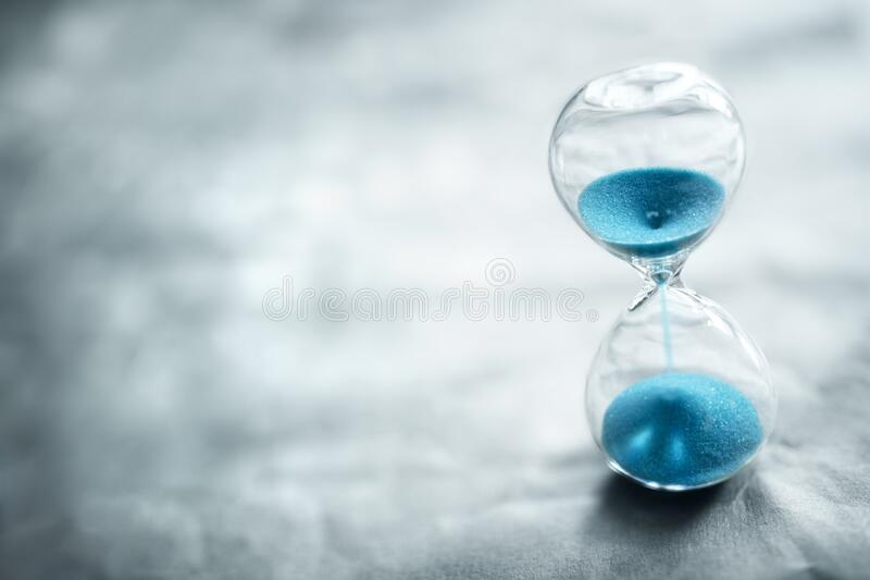 Hourglass background concept for time passing royalty free stock images