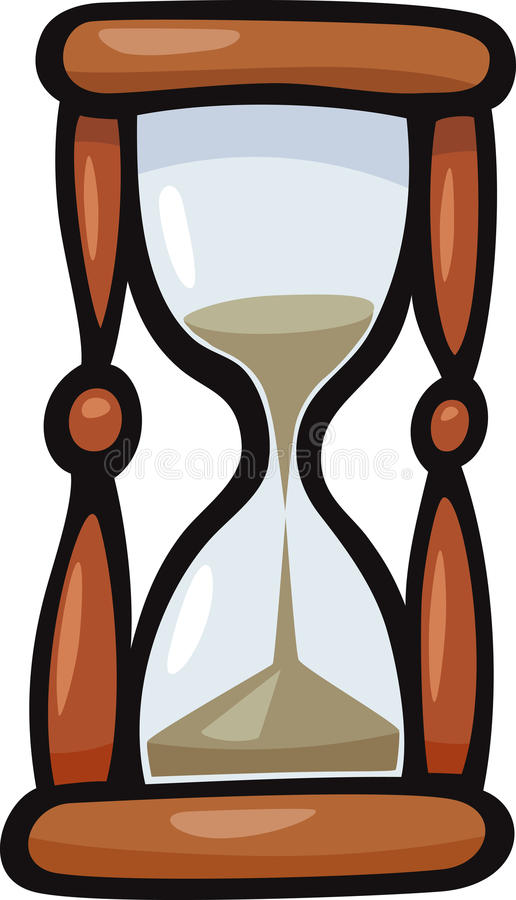 hourglass clip art cartoon illustration stock vector illustration rh dreamstime com hourglass clipart black and white hourglass clipart black and white