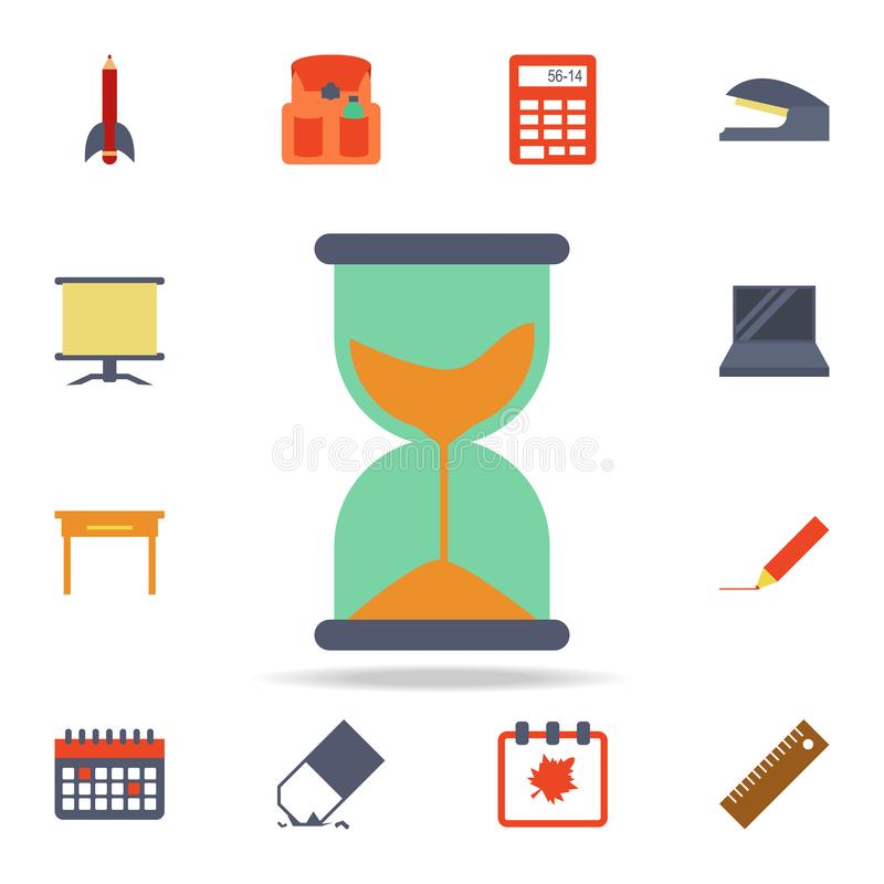 Hourglass colored icon. Detailed set of colored education icons. Premium graphic design. One of the collection icons for websites. Web design, mobile app on royalty free illustration