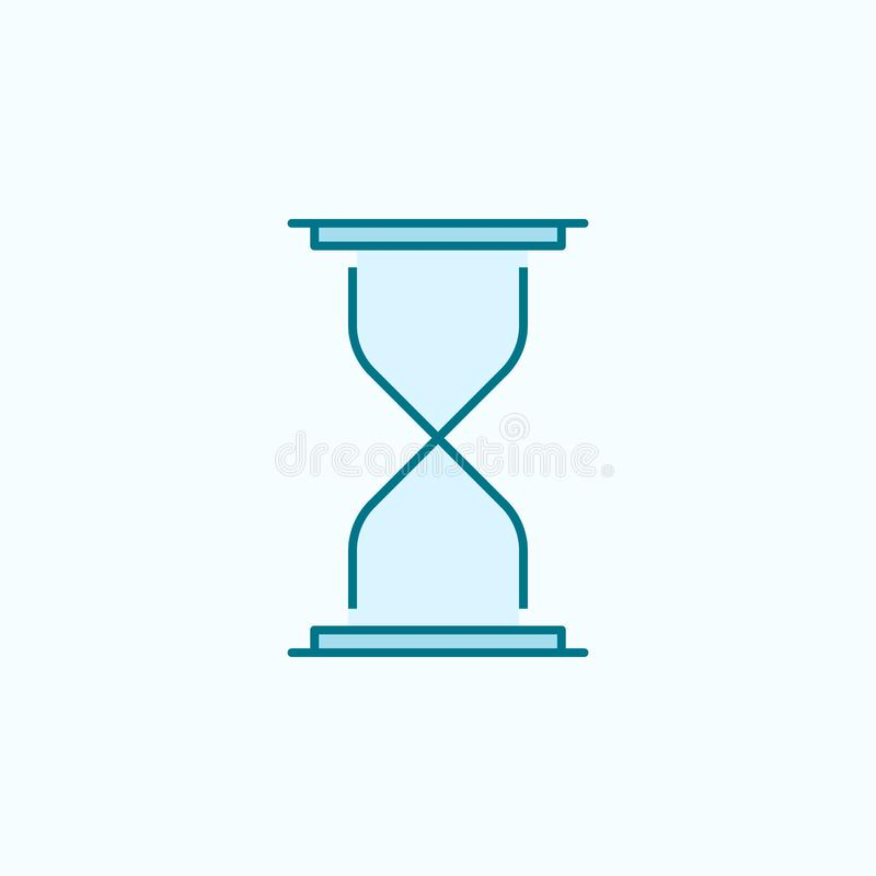hourglass 2 colored line icon. Simple colored element illustration. hourglass outline symbol design from web icons set on blue vector illustration
