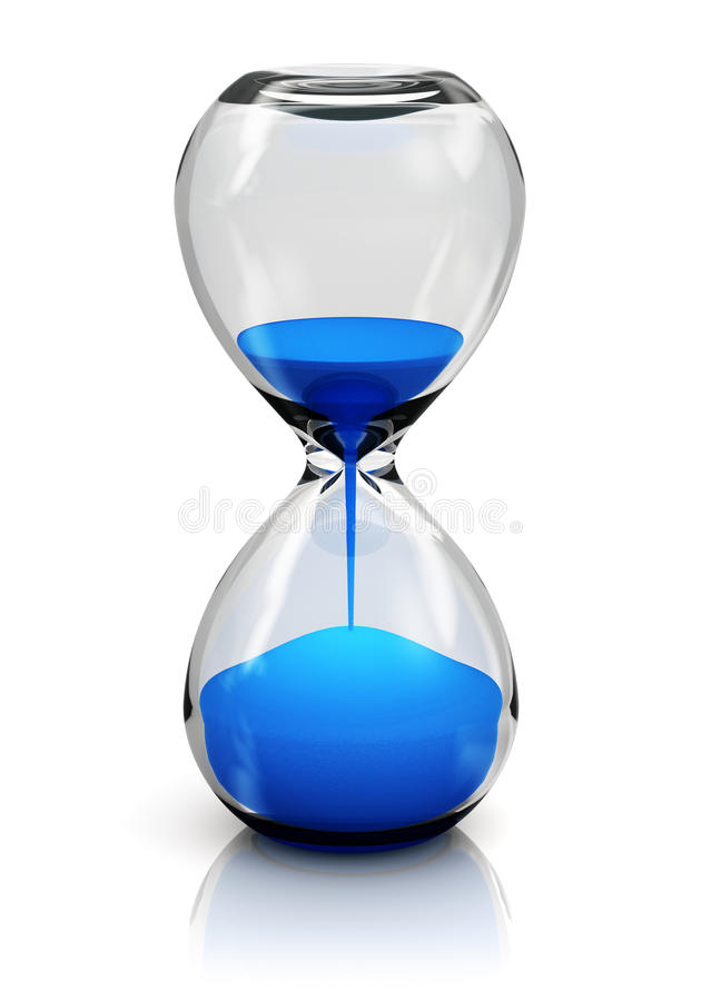 Hourglass royalty free illustration