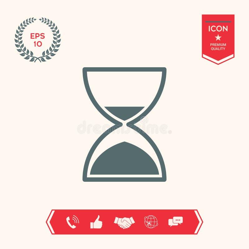 Hourglass czasu ikona ilustracja wektor