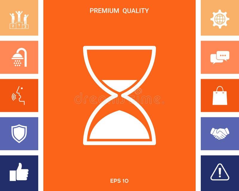 Hourglass czasu ikona royalty ilustracja