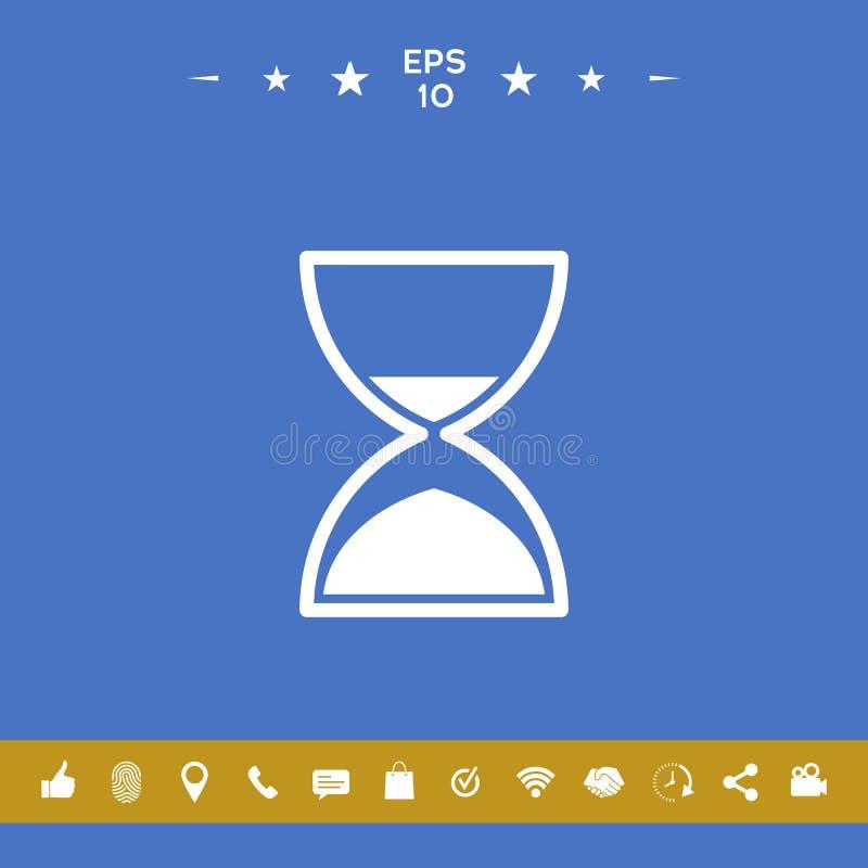 Hourglass czasu ikona ilustracji