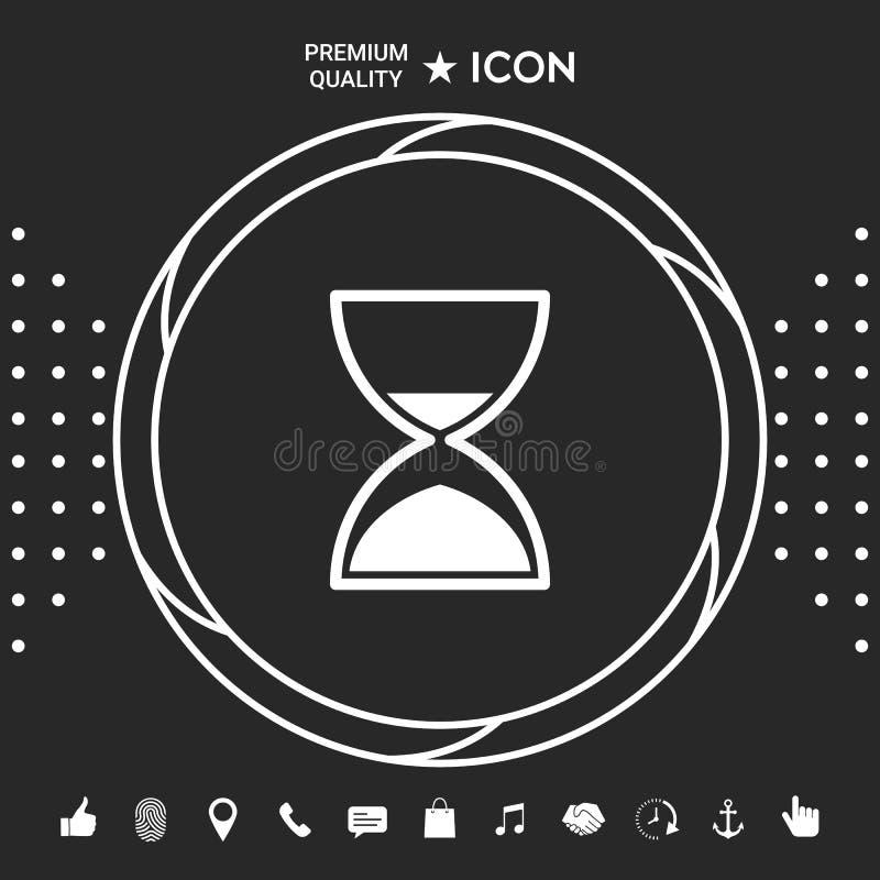 Hourglass czasu ikona Graficzni elementy dla twój designt ilustracji