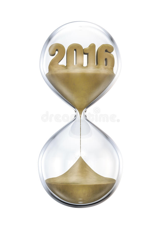 The 2016 hourglass royalty free illustration