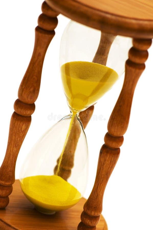 Hourglass de madeira isolado imagens de stock royalty free