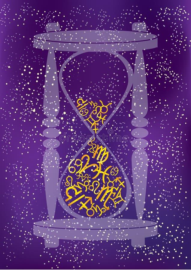 Hourglass do espaço ilustração do vetor