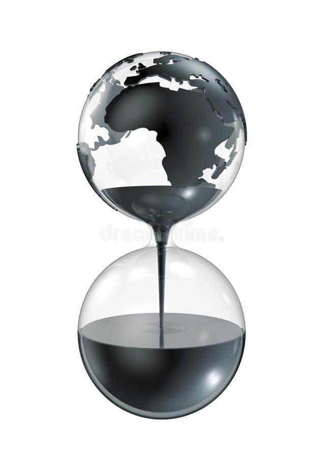 Hourglass do petróleo ilustração royalty free