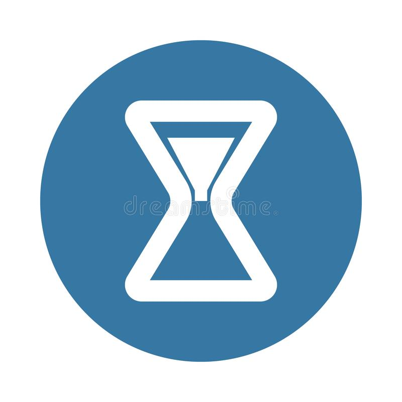 hourglass . Element of web icon in Badge style vector illustration