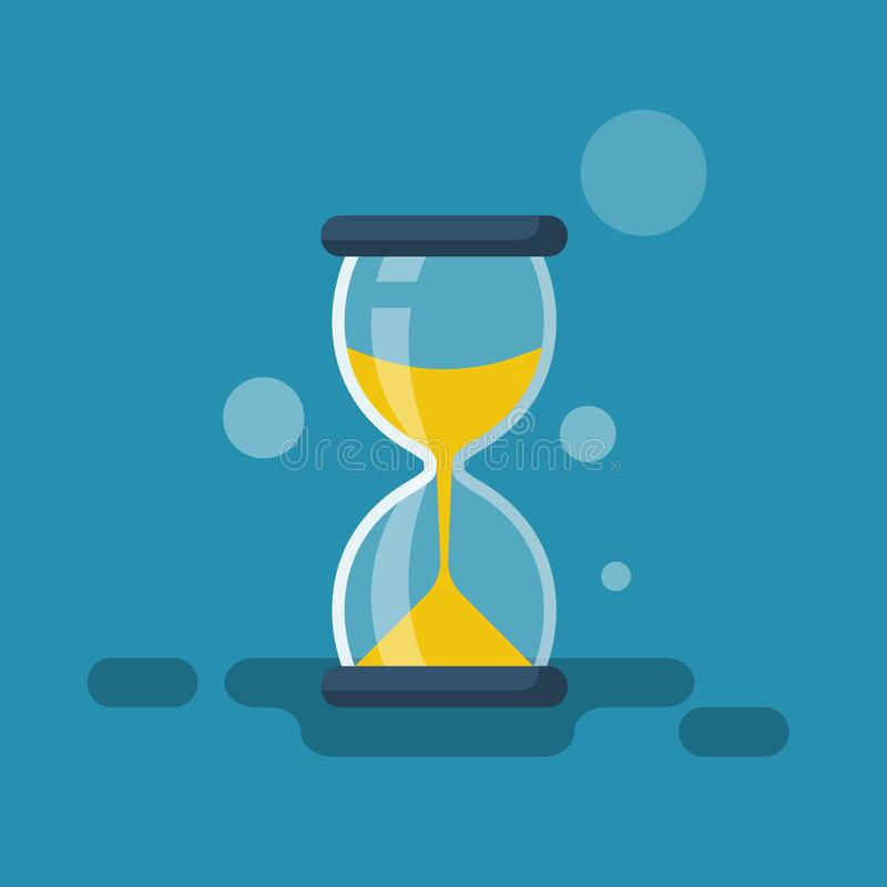 Hourglass flat icon. Vector illustration cartoon design stock illustration