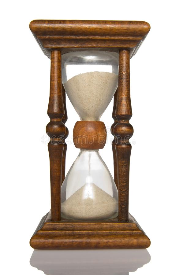 Hourglass front view royalty free stock photography