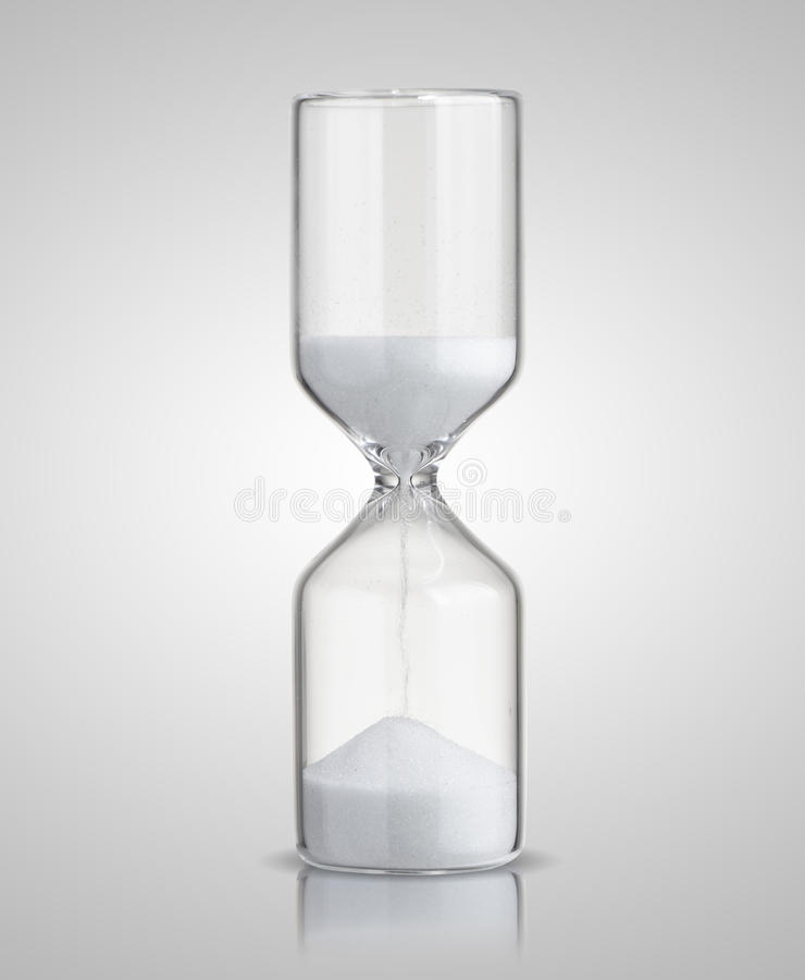 Hourglass. On gray background stock photo