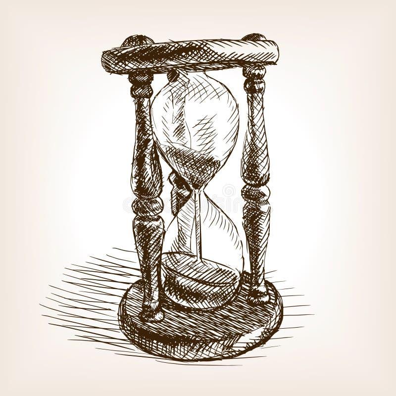 Hourglass Hand Drawn Sketch Vector Stock Vector