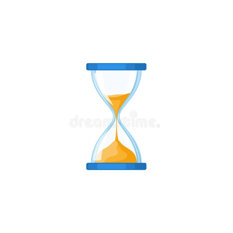 Hourglass, hour-glass, sandglass, sand-glass icon vector illustration