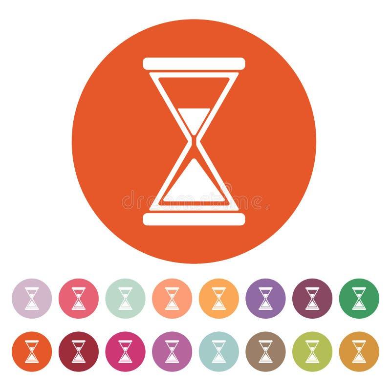 Flat Hourglass Icon