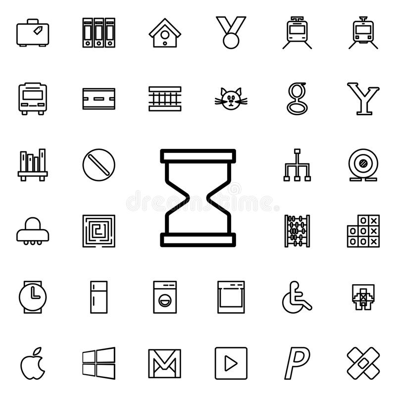 Hourglass icon. Detailed set of minimalistic line icons. Premium graphic design. One of the collection icons for websites, web des. Ign, mobile app on colored vector illustration