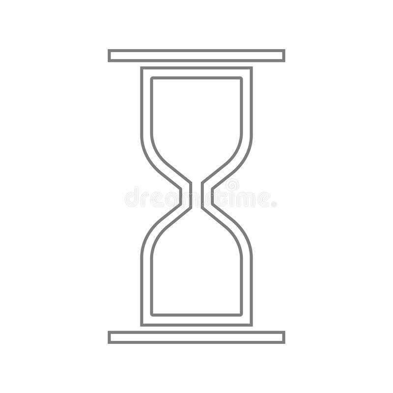 hourglass icon. Element of cyber security for mobile concept and web apps icon. Thin line icon for website design and development vector illustration