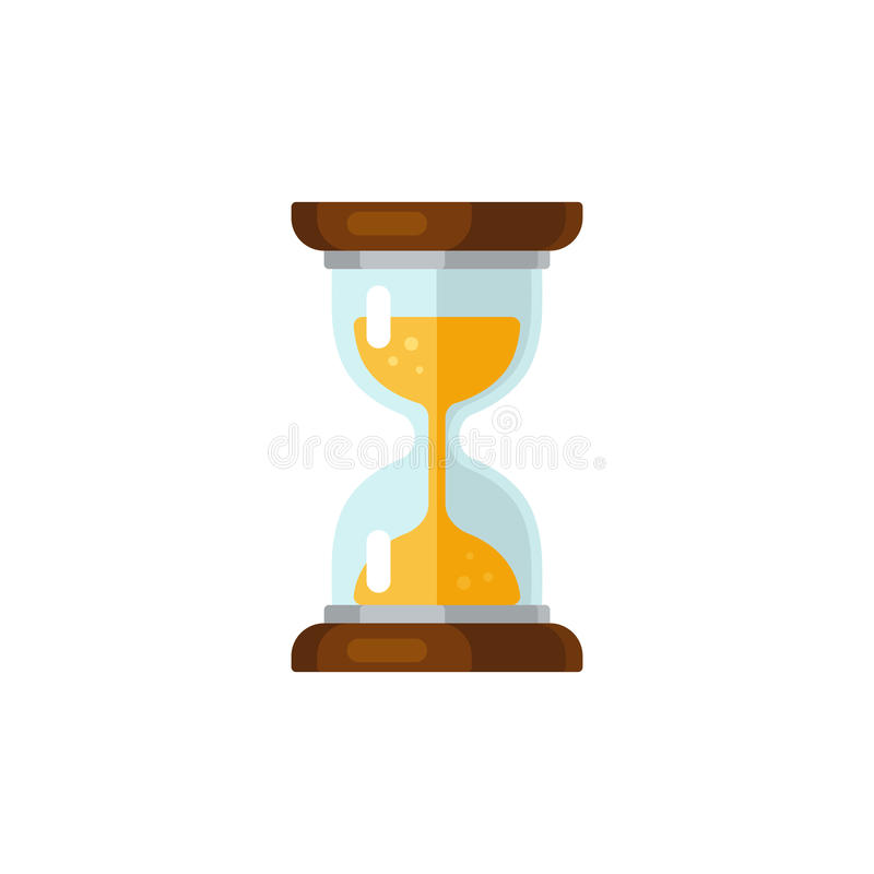 Hourglass icon stock illustration