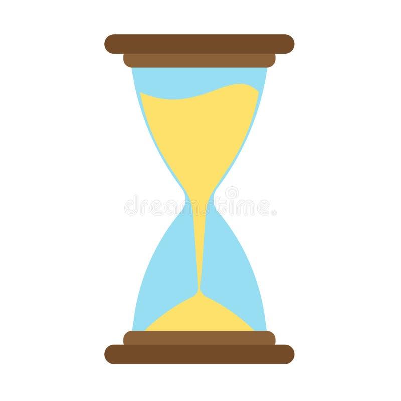 Hourglass icon vector time sand hour clock glass design illustration flat stock illustration