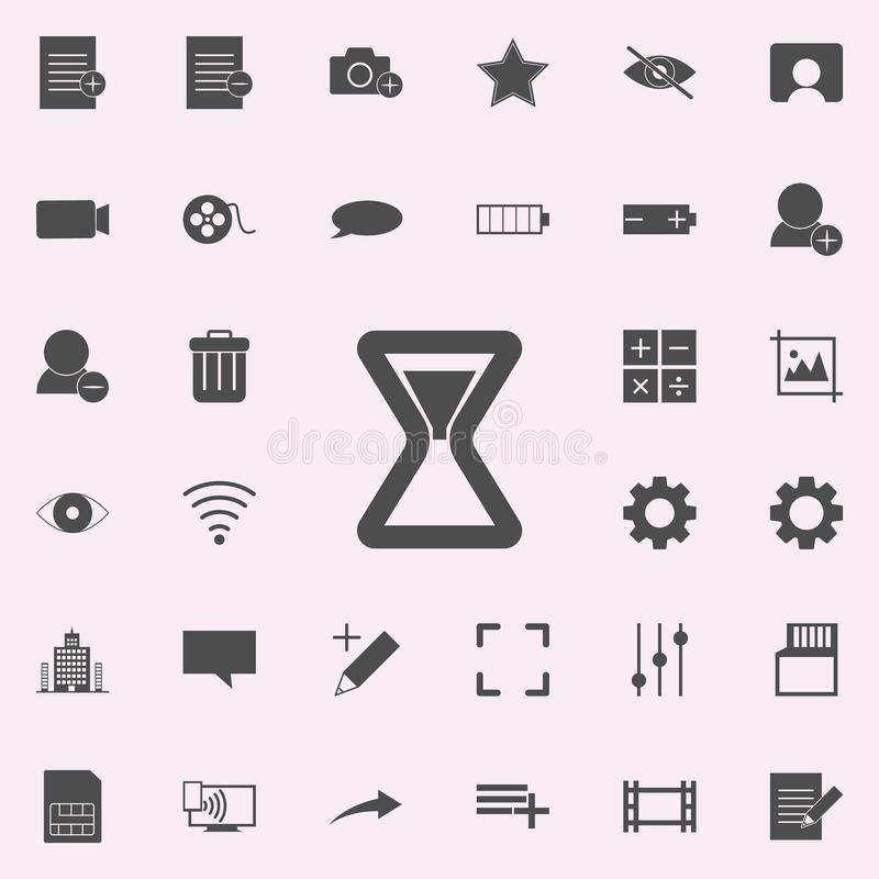 hourglass icon. web icons universal set for web and mobile royalty free illustration