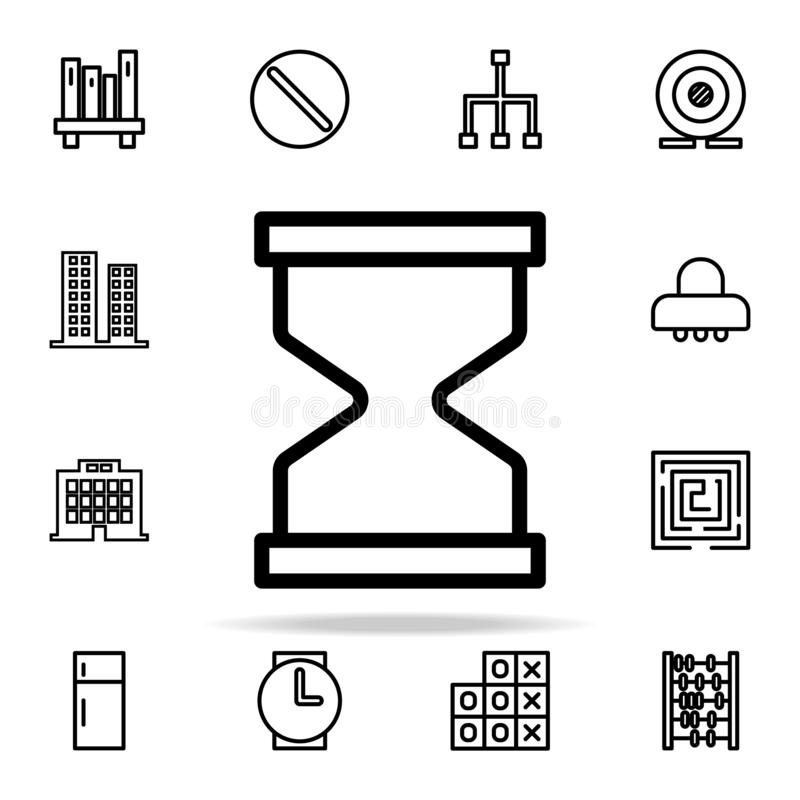 hourglass icon. web icons universal set for web and mobile stock illustration