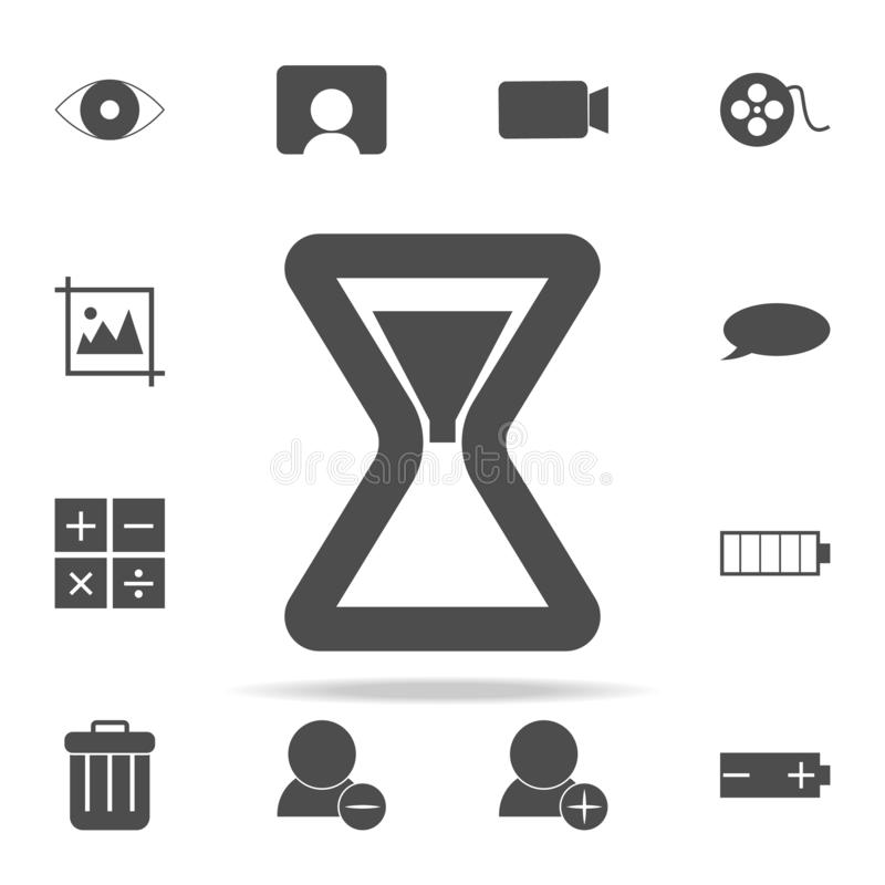 hourglass icon. web icons universal set for web and mobile vector illustration