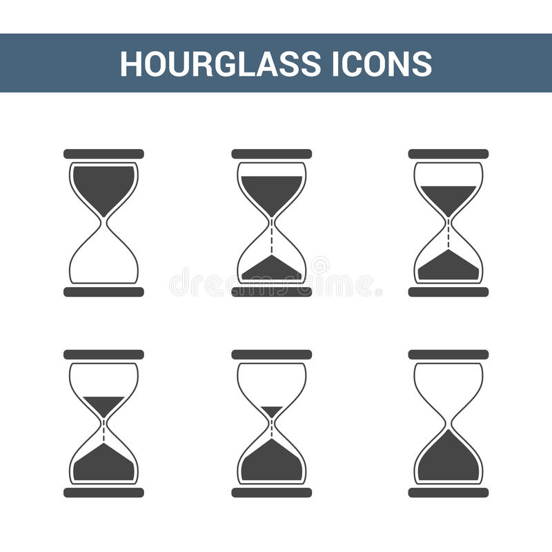 Hourglass Icons vector illustration