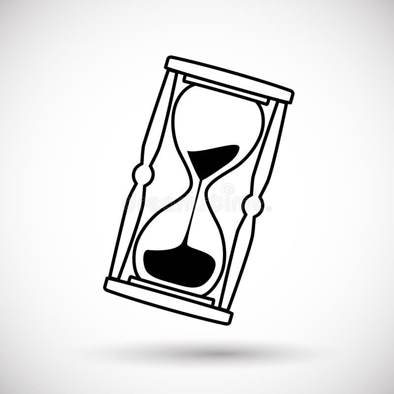 Hourglass ikona czasu symbol royalty ilustracja