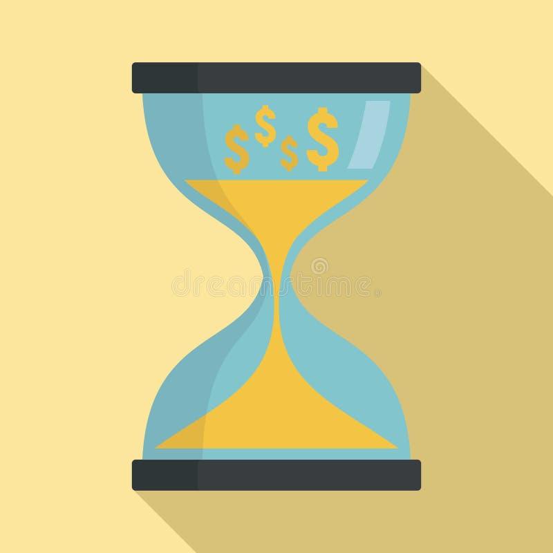 Hourglass ikona, mieszkanie styl ilustracji