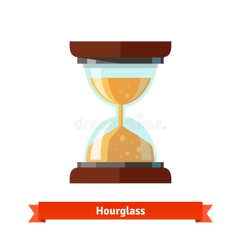 Hourglass ikona Piaska szkła zegar ilustracja wektor