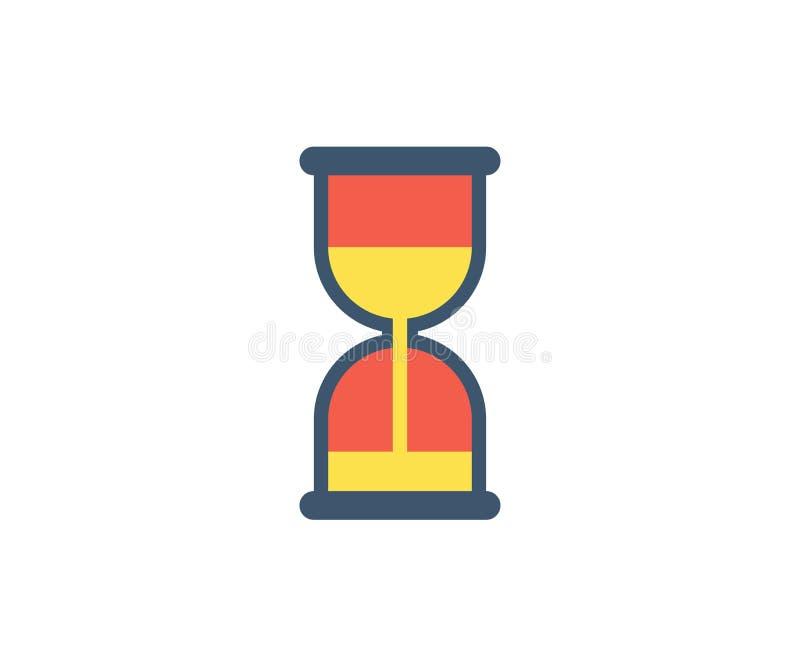 Hourglass ikona Wektorowa ilustracja w płaskim minimalisty stylu royalty ilustracja