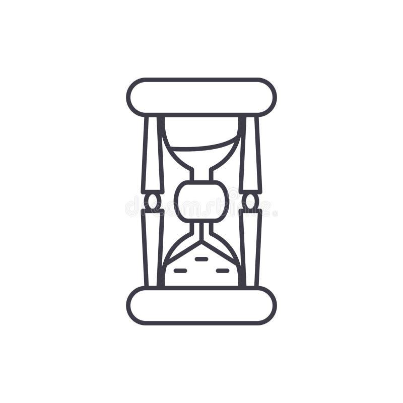 Hourglass ikony kreskowy pojęcie Hourglass wektorowa liniowa ilustracja, symbol, znak ilustracja wektor