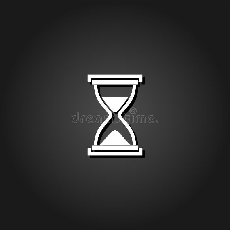 Hourglass ikony mieszkanie ilustracji