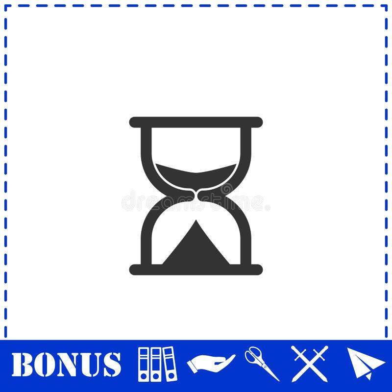 Hourglass ikony mieszkanie ilustracja wektor