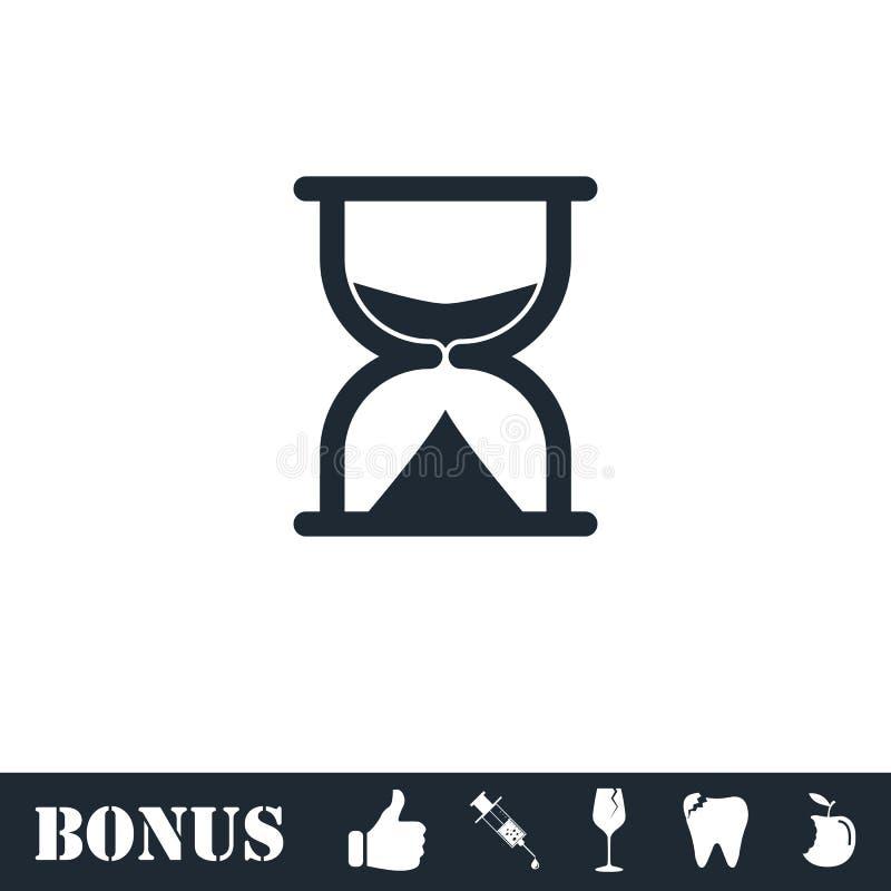 Hourglass ikony mieszkanie royalty ilustracja