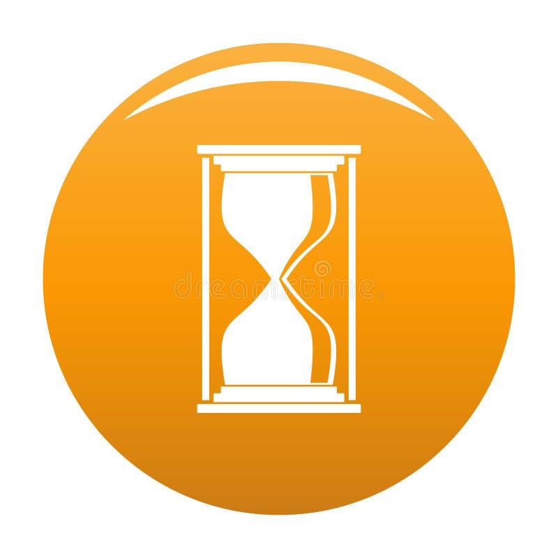 Hourglass ikony pomarańcze ilustracji
