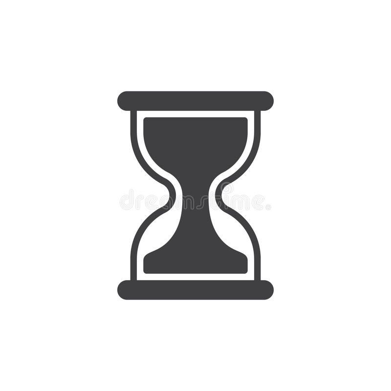 Hourglass ikony wektor, wypełniający mieszkanie znak ilustracja wektor