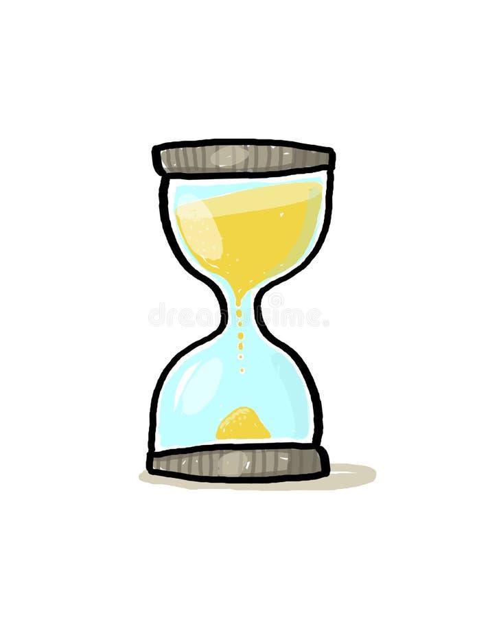 Download Hourglass Illustration; Sand Glass Cartoon Stock Illustration - Image: 12231279