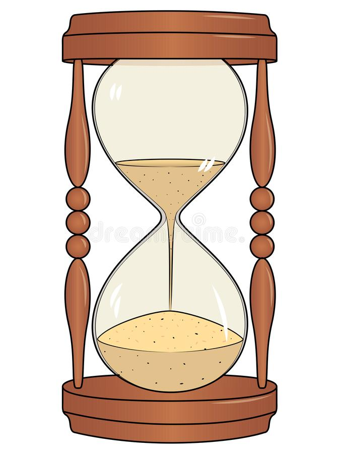 Hourglass, Isolated object on white background. Raster. Illustration stock illustration