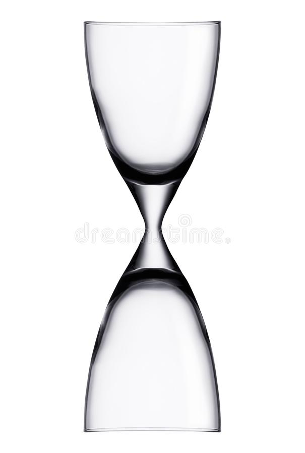 Hourglass isolated on white royalty free stock photo