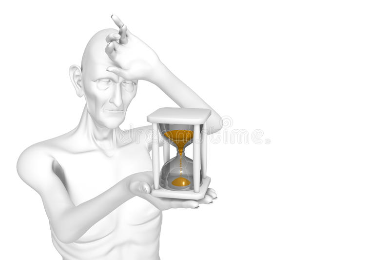 Download Hourglass Measuring The Time Out Royalty Free Stock Photography - Image: 12100177