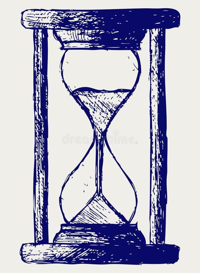 Hourglass nakreślenie royalty ilustracja