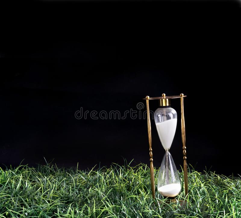 Hourglass in the Night royalty free stock photo