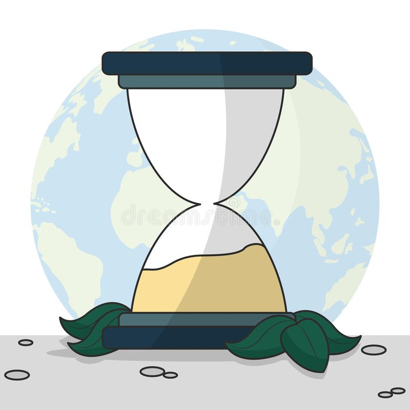 Earth Hour design vector illustration