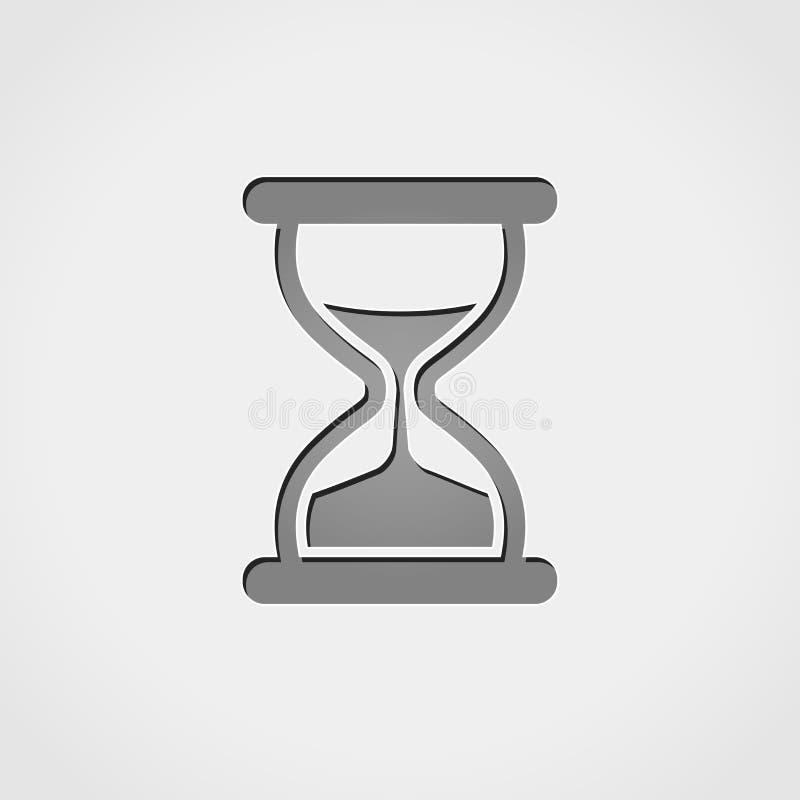 Hourglass popielata ikona royalty ilustracja