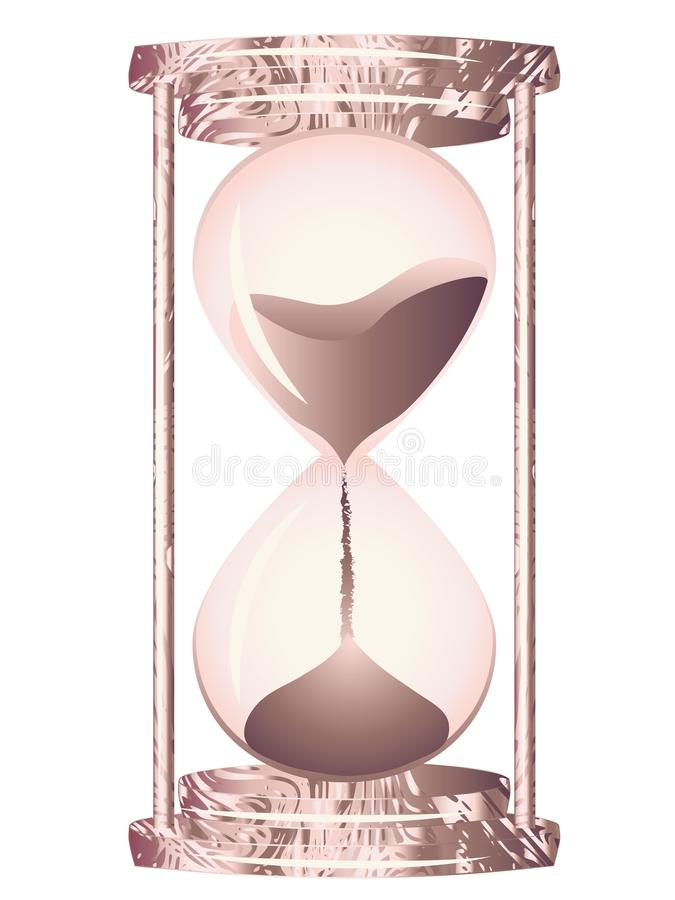 Hourglass różany złoto ilustracji