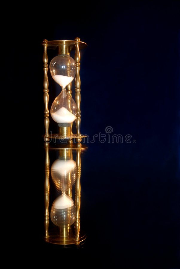 Hourglass with Reflection stock images