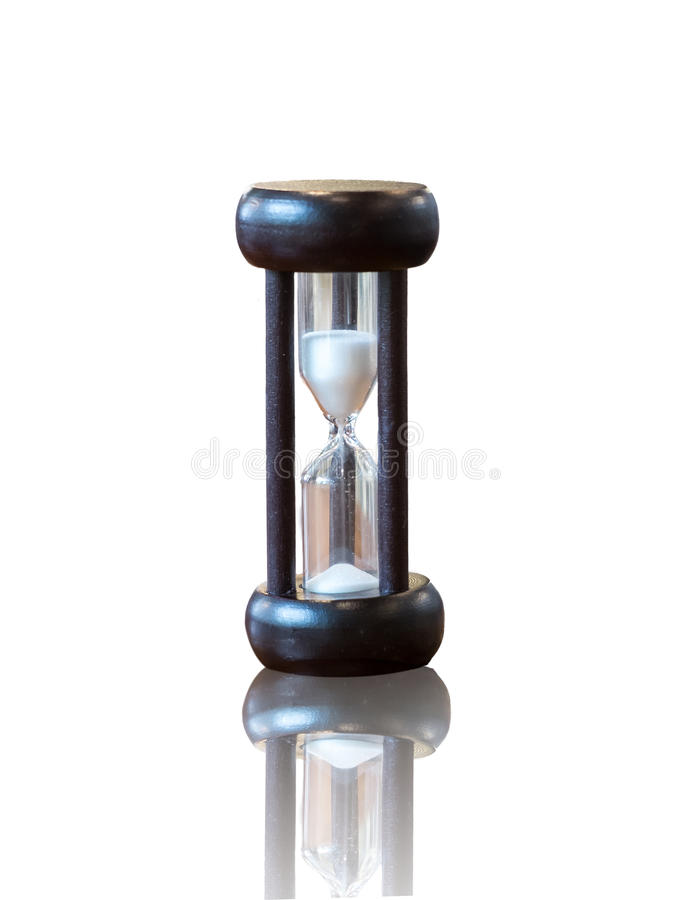Download Hourglass Or Sand Clock As Time Passing Concept For Business Deadline, Urgency And Running Out Of Time. Black Wooden Sand Clock Wi Stock Image - Image: 89323363